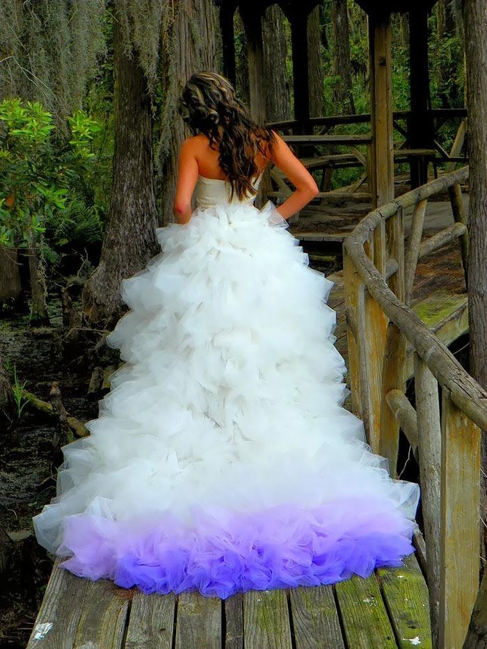 15 Dip Dyed Wedding Dress Ideas That Will Add A Burst Of ...