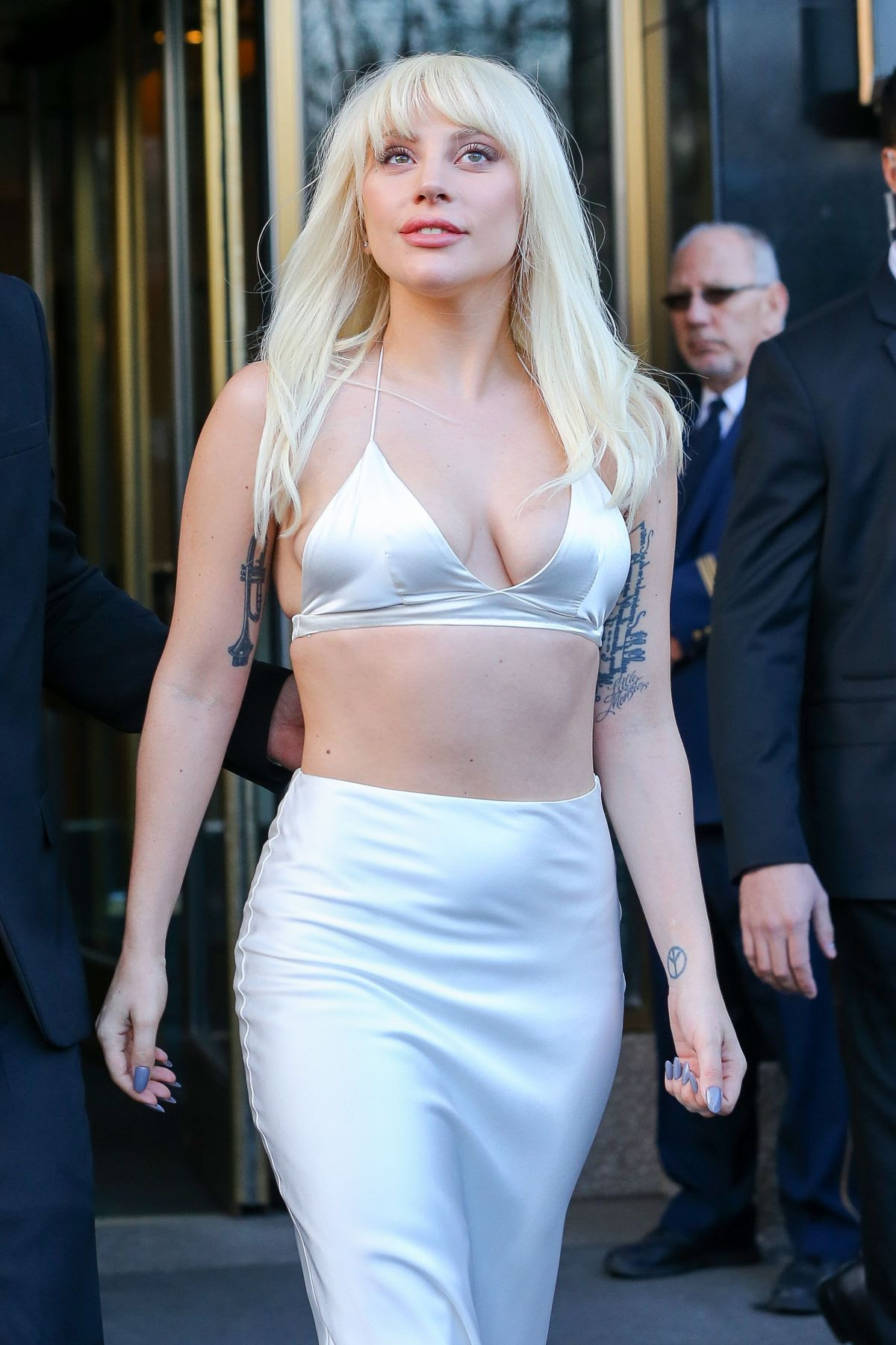 LADY GAGA Leaves Her Hotel in New York 12/11/2015