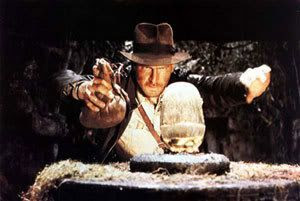 Indiana Jones in RAIDERS OF THE LOST ARK...the best film in the series.