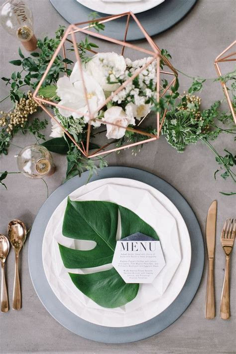 14 Geometric Wedding Table Decor Ideas   bridal because i