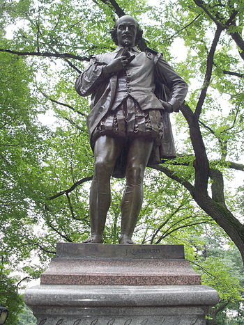 "Statue of William Shakespeare on ""Literar..."