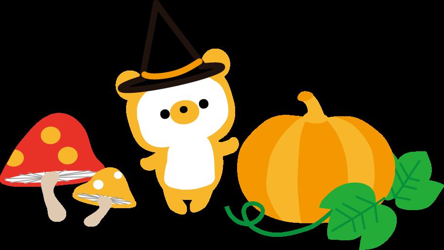 ハロウィンのイラスト秋の無料イラスト
