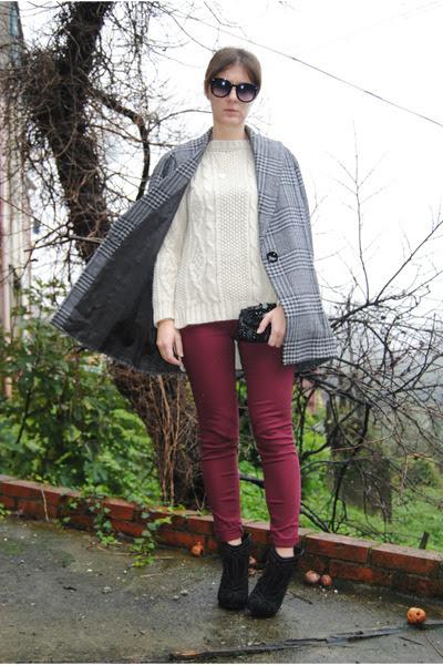 Vintage-coat-zara-sweater