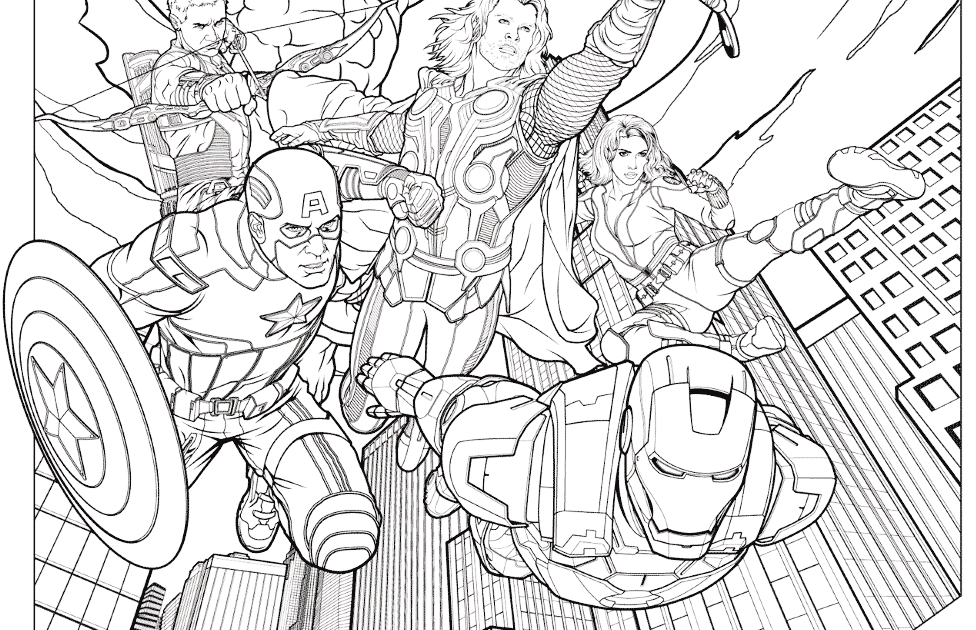 Coloring Pages: Avengers Endgame Coloring