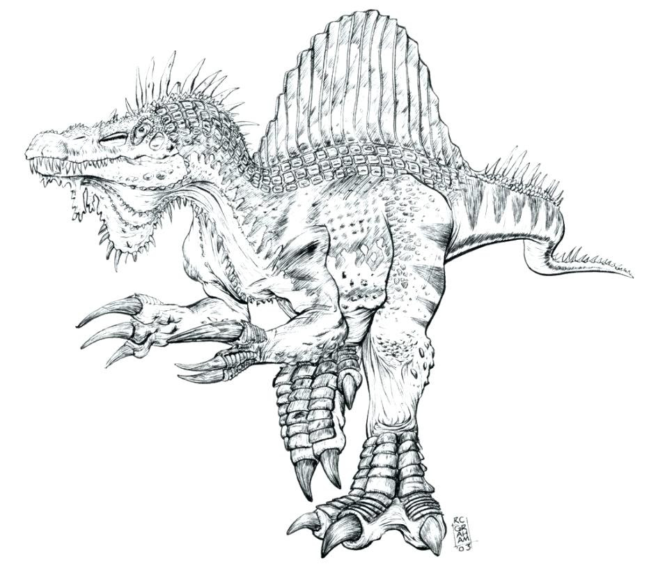 Realistic Dinosaur Coloring Pages at GetColorings.com ...