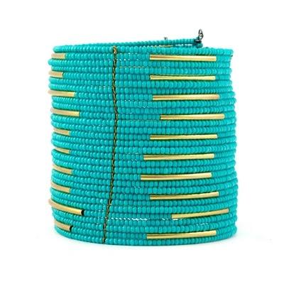 Chan luu Turquoise Beaded Cuff Bracelet