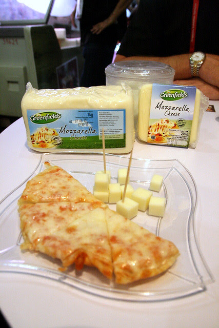 Melted on pizza, stringy and stretchable mozzarella made fresh in Indonesia