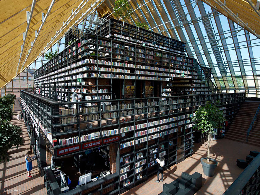Book Mountain, Spijkenisse, Netherlands