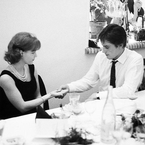 Romy Schneider y Alain Delon, 1962.