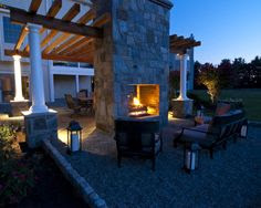 Outdoor Fireplace on Pinterest