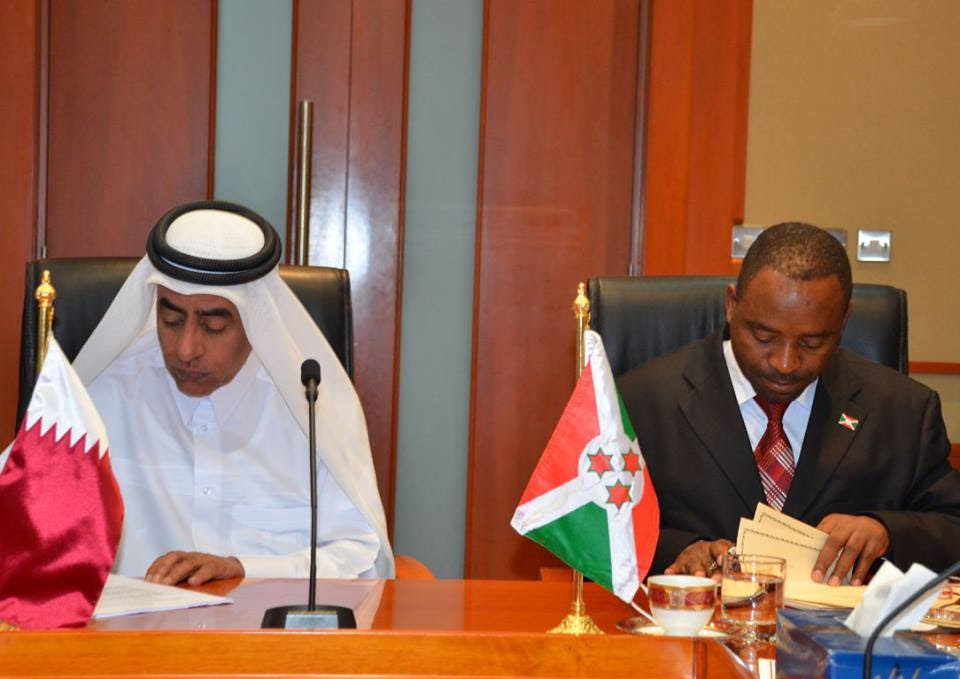 The signing ceremony in Doha