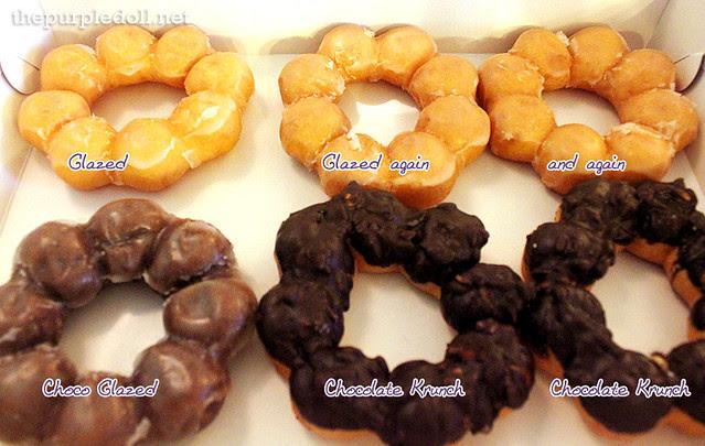 Gavino's Donuts Glazed, Chocolate Glazed, Chocolate Krunch