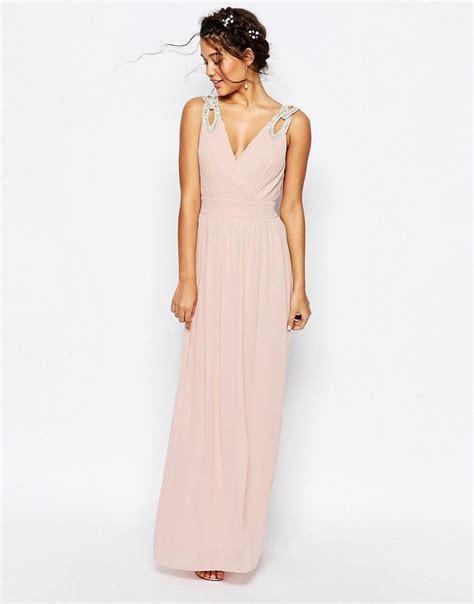 Image 2 of TFNC WEDDING Wrap Embellished Maxi Dress
