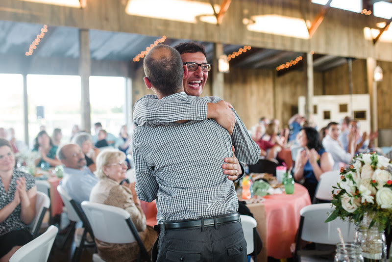 A country wedding reception at Busy Barns Adventure farms before a wedding at Busy Barns Adventure Farms in Fort Atkinson Wisconsin about 30 minutes east of Madison and an hour north of Chicago. Photo by Mindy Joy Photography.