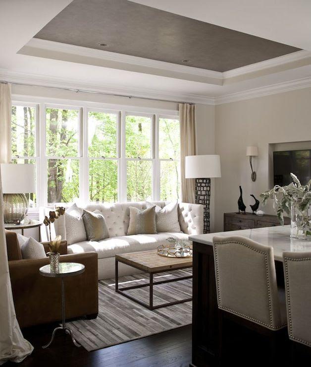 High Back Sofa - Transitional - living room - Heather ...