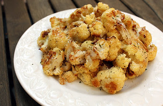 Garlic Roasted Cauliflower with Lemon and Parmesan