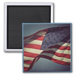 Patriotic American Flag Magnet