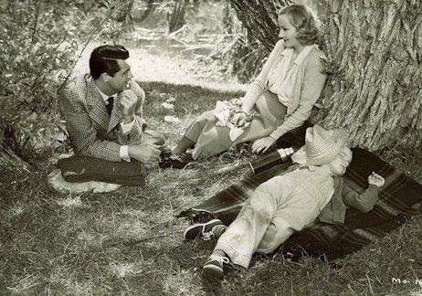 Cary Grant, Carole Lombard and Peggy Ann Garner