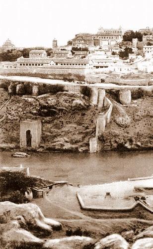 Baño de la Cava (Toledo) a principios del siglo XX.