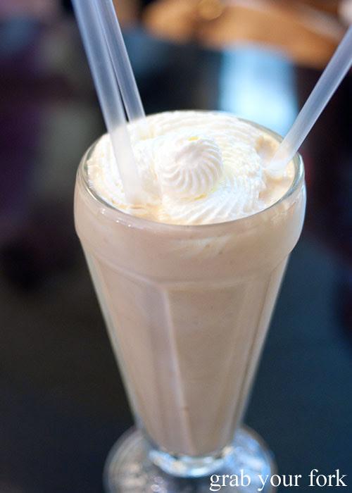 peanut butter malted milkshake at jazz city diner darlinghurst