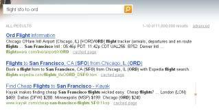 Bing flight SFO to ORD