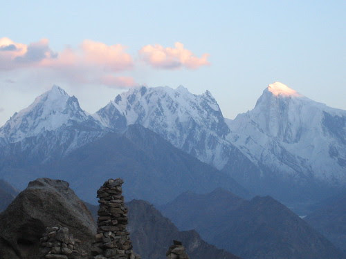 Sunset over the Spantik Range, from Duikar viewpoint (2900m)