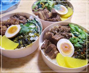 台湾弁当な夕御飯。ちゃんとあっちの味がするー!