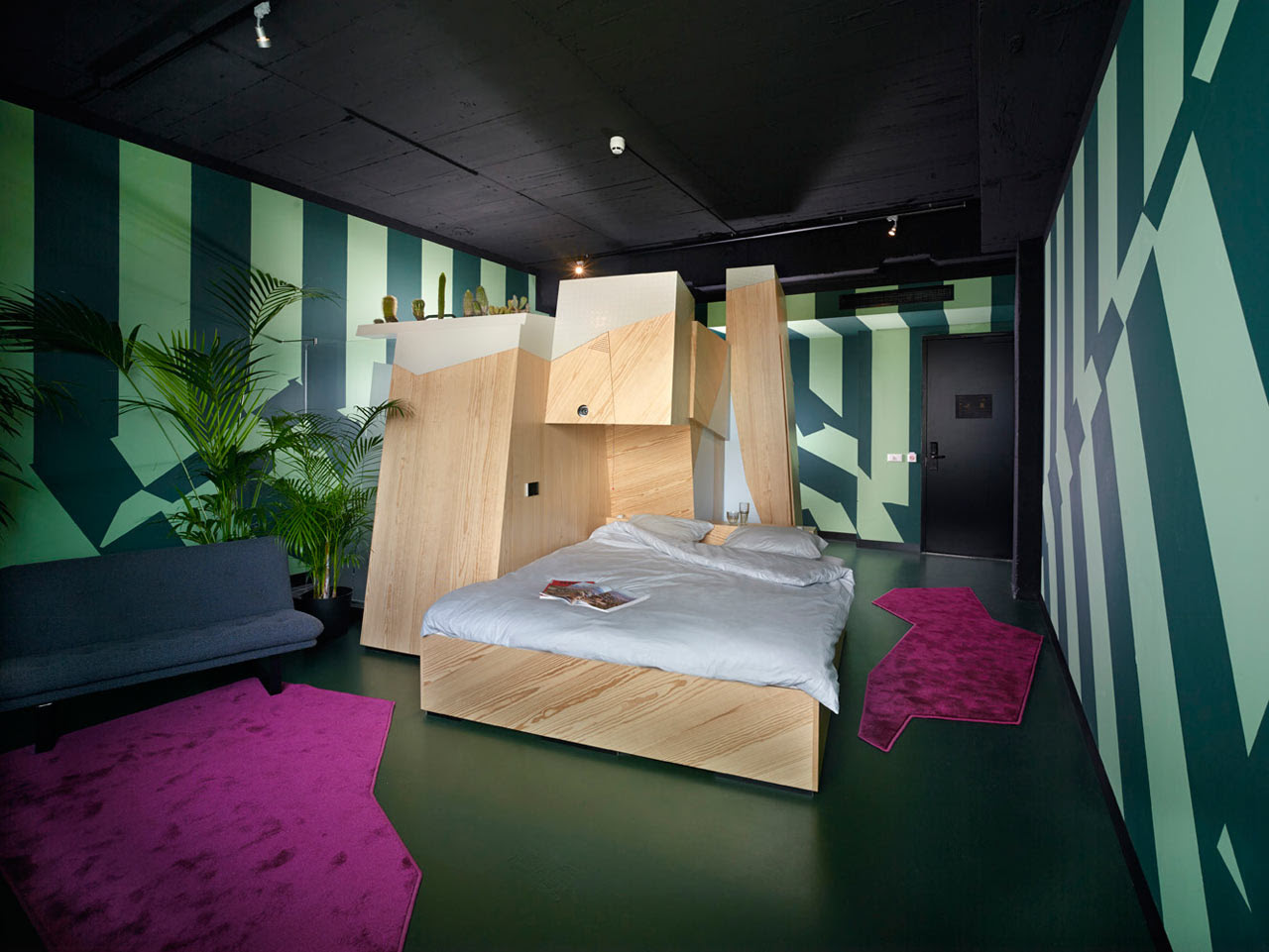 A One-of-a-Kind Hotel Room at Volkshotel Amsterdam