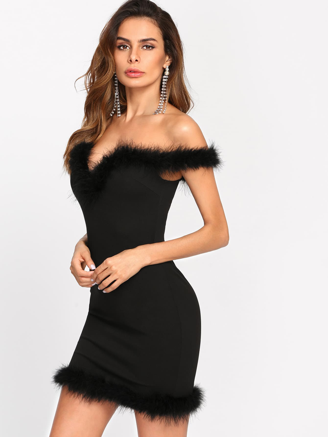 Plus size bodycon dress with sleeves