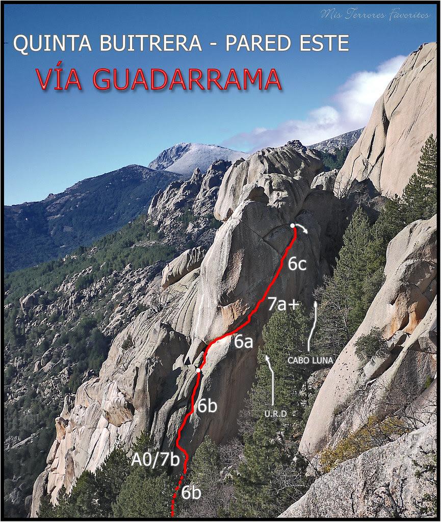 CROQUIS VÍA GUADARRAMA - 5º BUITRERA - PEDRIZA