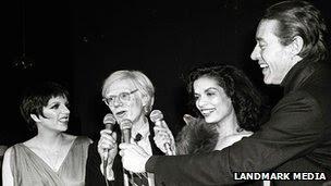 Liza Minelli, Andy Warhol, Bianca Jagger, Halston