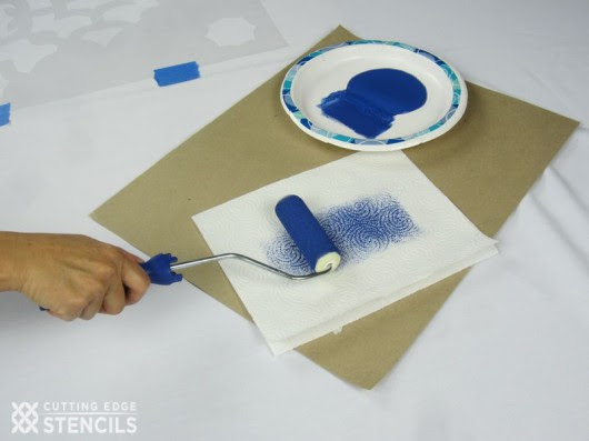 Embellish Your Table Decor With A Diy Stenciled Tablecloth