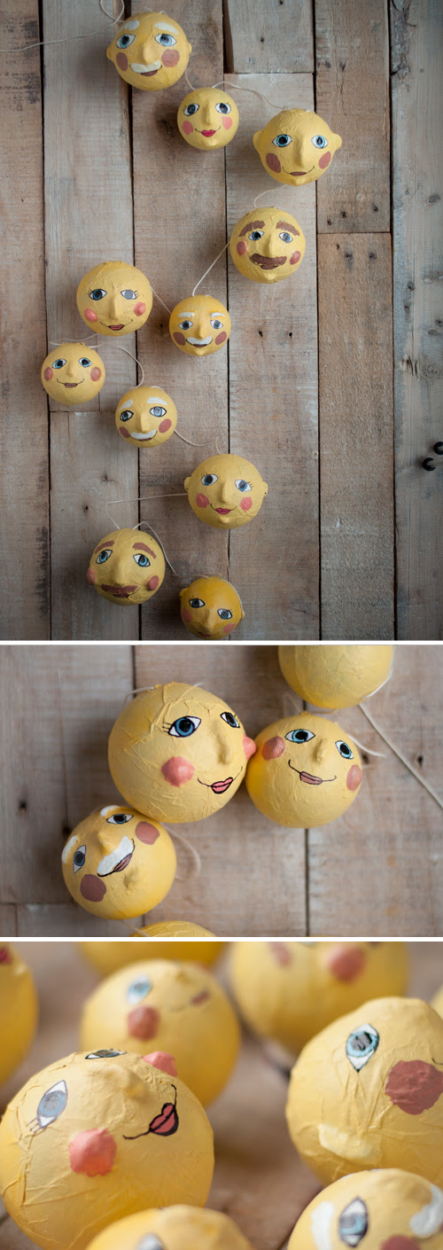 DIY: Man in the Moon Garland. So sweet in a nursery!  Easy tutorial.  |  Design Mom