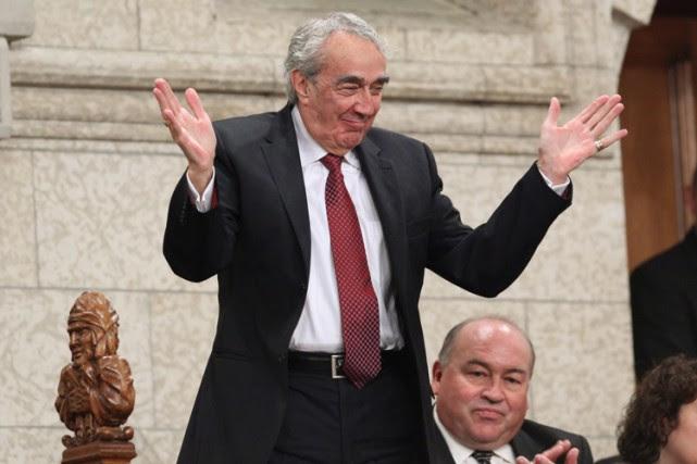 Marcel Prud'homme applaudi à la Chambre des communes,... (ARCHIVES PC)