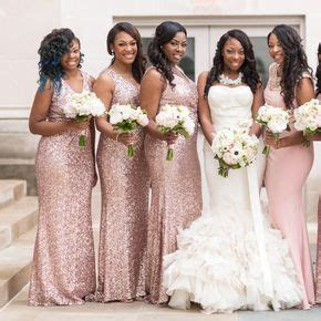 African American Weddings   Brown Bride and Bridesmaids