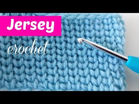 فيديو شرح طريقة عمل غرزة الجرسى بالخطوات كروشية Knit jersey to Crochet كروشيه