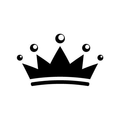 シンプルな王冠のイラスト素材 無料商用可能王冠クラウン素材