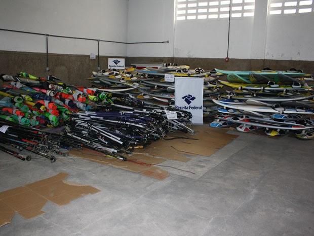 Material foi apreendido nesta quinta-feira (20) (Foto: Divulgação/Assessoria Receita Federal)