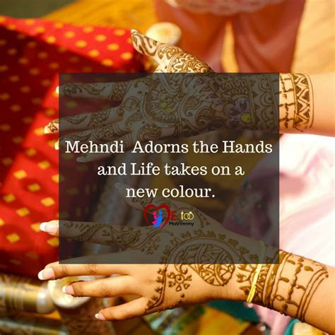 Mehandi Quotes In English   Wedding Ideas