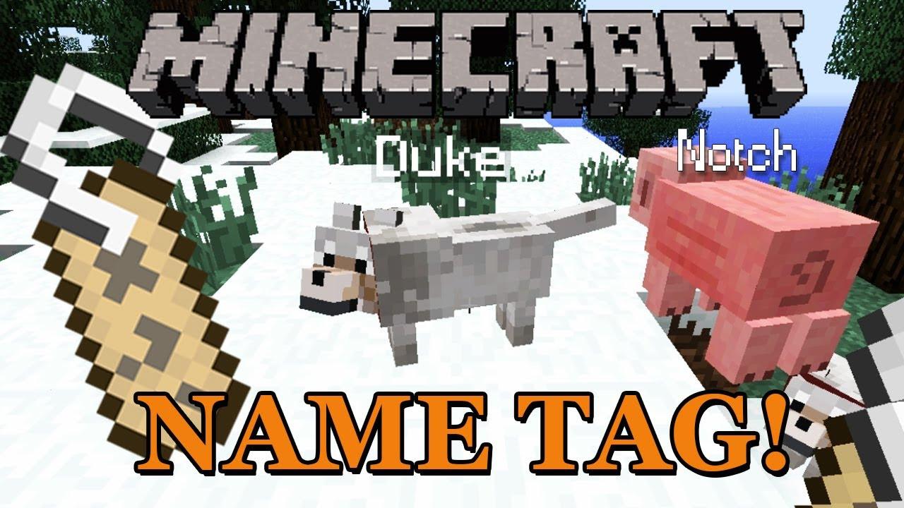 Minecraft News: Name Tag - YouTube