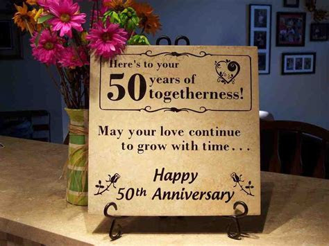 50 Year Wedding Anniversary Gift Ideas   Wedding and