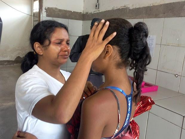 Reencontro aconteceu na tarde desta quarta-feira (23), no CDP feminino de Parnamirim (Foto: Renato Vasconcelos/ G1)