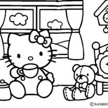 Hello Kitty Tea Time Coloring Pages Hellokidscom