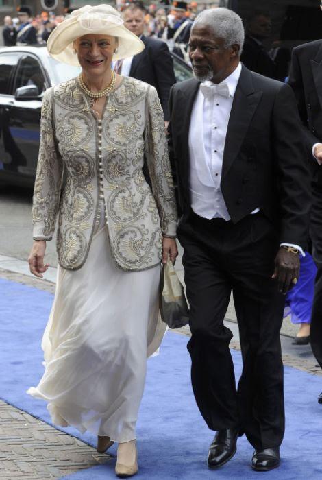 Former U.N. Secretary-General Kofi Annan and his wife Nane
