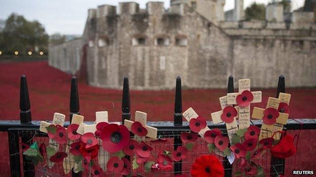 Tower of London Poppy display