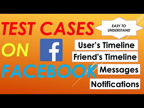 Test Cases For Facebook | Timeline | Notification | Messages