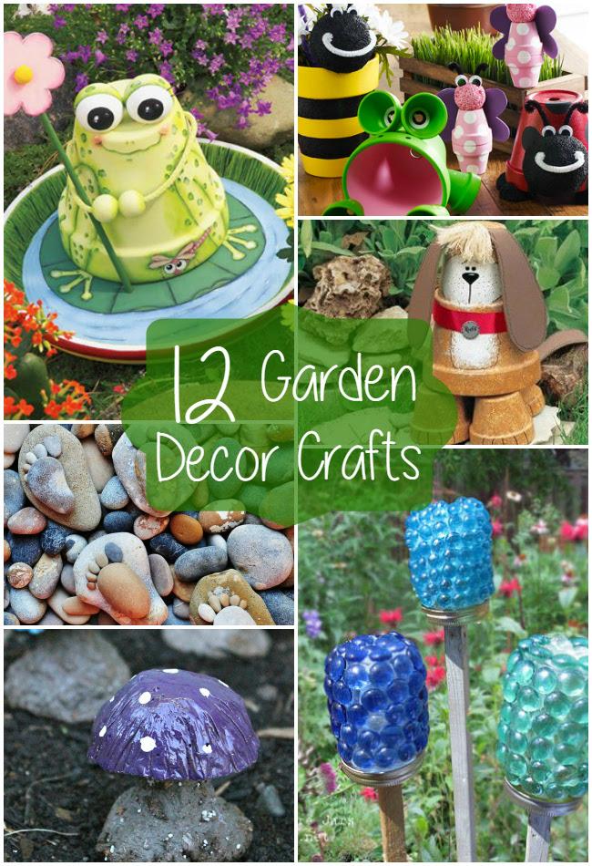 12 Garden Decor Crafts | The Craftiest Couple