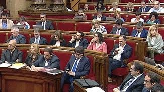 El Parlament durant el debat de pressupostos