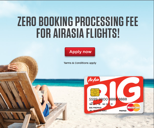 Zero Booking Processing Fee for AirAsia Flights