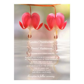 Heart Flower Wedding Invitations
